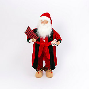 Christmas 3Ft. Holiday Santa Figurine, , large