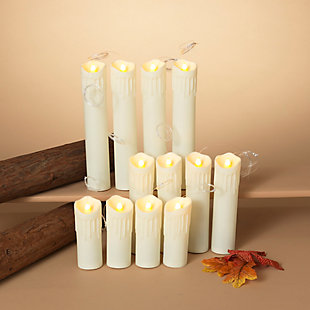 "Halloween Battery Operated ""Floating"" Hanging Candles (Set of 12), , rollover"