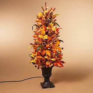 Fall 46-Inch Lit Decorative Fall/Harvest Tree with 50 Lights, , rollover