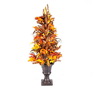 Fall 46-Inch Lit Decorative Fall/Harvest Tree with 50 Lights, , large