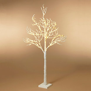 Christmas 70.8-Inch Icy White Tree with 200 Superbright LED Lights, , rollover