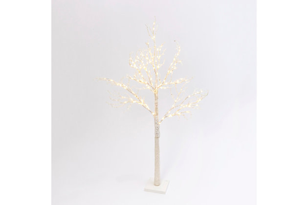 Christmas 70.8-Inch Icy White Tree with 200 Superbright LED Lights, , large