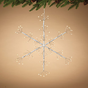 Christmas 16-Inch Firecracker LED Hanging Snow Flake with Battery Box, , rollover