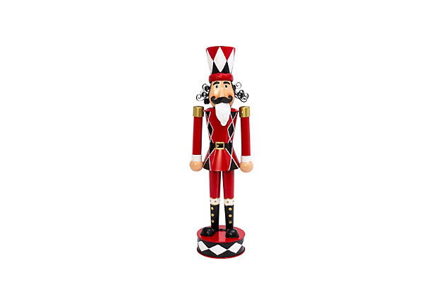 Christmas 33.8-Inch Metal Toy Solider, , large