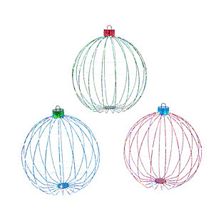 Christmas 30-Inch Collapsible Ornaments with Remote Feature (Set of 3), , large