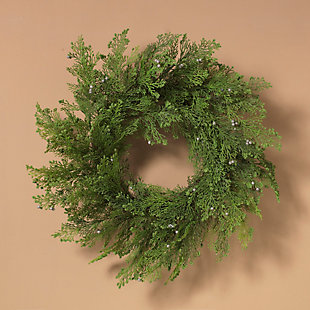 Christmas 24-Inch Cedar Wreath with Berry Accents, , rollover