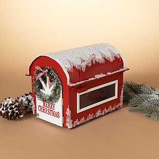 Christmas 13.75-Inch Wooden Holiday Mailbox For Santa, , rollover