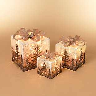 Christmas Lighted Holiday Jewel Gift Box Décor (Set of 3), , rollover