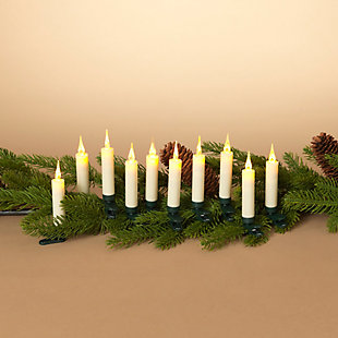 Christmas Remote Control Clip On LED Candles (Set of 10), , rollover