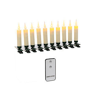Christmas Remote Control Clip On LED Candles (Set of 10), , large