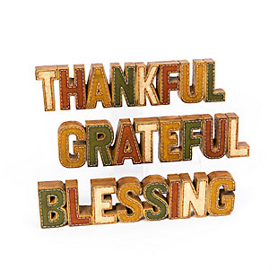 Fall Assorted Resin Inspirational Tabletop Signs (Set of 3), , large