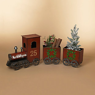Christmas 65.25-Inch North Pole Express Metal Train, , rollover