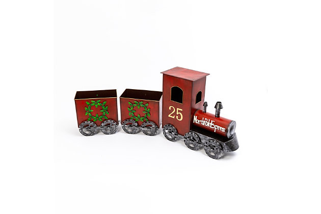 Christmas 65.25-Inch North Pole Express Metal Train, , large