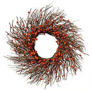 Fall Dried Twig and Fall Berries Wreath, , large