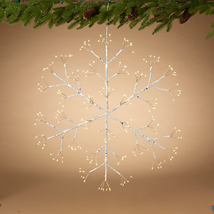 Christmas 24-Inch Firecracker LED Snow Flake with Outdoor Battery Box, , rollover