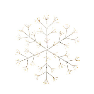 Christmas 24-Inch Firecracker LED Snow Flake with Outdoor Battery Box, , large
