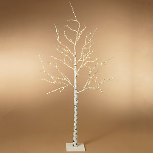Christmas 82.67-Inch Lighted Birch Tree with 250 Warm White LED Lights, , rollover