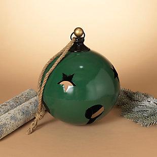 Christmas 16-Inch Jumbo Hanging Green Metal Jingle Bell, , rollover