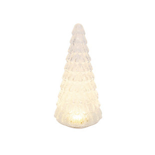 Christmas 12-Inch Lighted Handblown Glass Décor Tree, , large