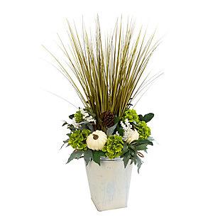 Fall 4Ft. Jumbo Harvest Floral Arrangement in Bucket, , large