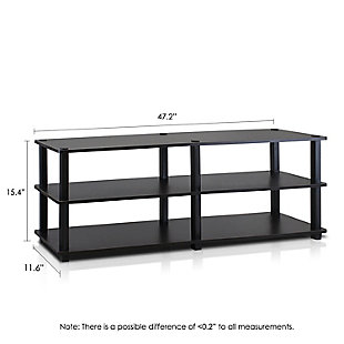 Furinno Turn-S-Tube No Tools 3-Tier Wide Shoe Storage Rack, Espresso/Black, large