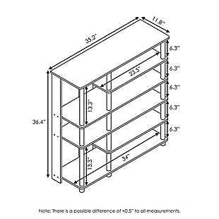 Furinno Turn-N-Tube Multi Storage Shoe Rack, French Oak Grey/Black, large