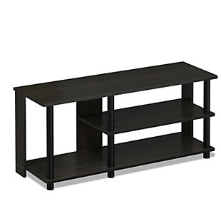 Furinno Turn-N-Tube Compact Multi Storage Shoe Rack, Espresso/Black, large