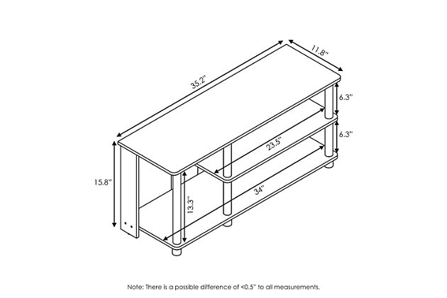 Furinno Turn-N-Tube Compact Multi Storage Shoe Rack, French Oak Grey/Black, large