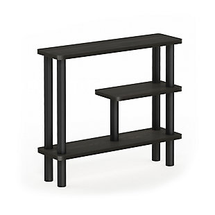 Furinno Turn-N-Tube Slim Space Saving Storage Rack, Espresso/Black, large