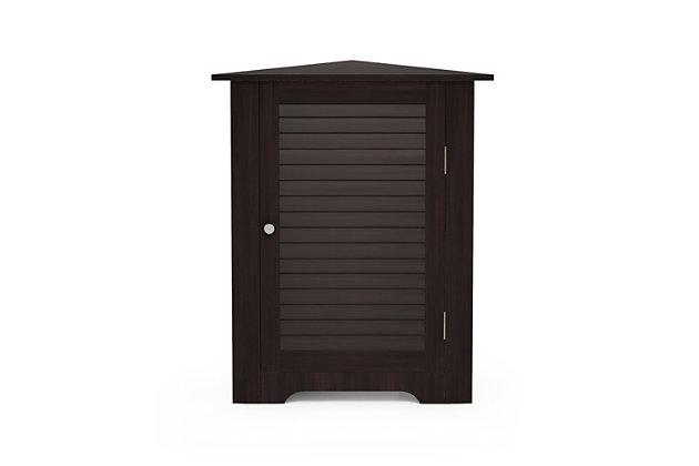 Furinno Indo Corner Louver Door Cabinet, Espresso, large