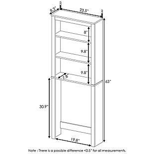 Furinno Indo Open Bath Cabinet, White, large