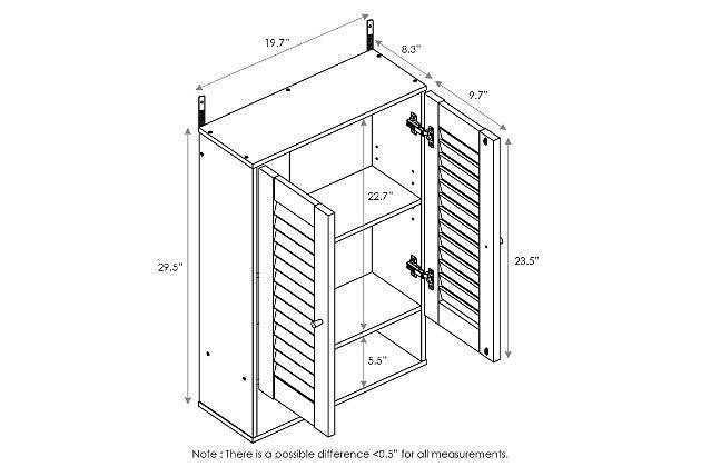Furinno Indo Double Door Wall Cabinet, Espresso, large