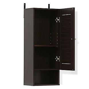 Furinno Indo Slim Wall Cabinet, Espresso, large
