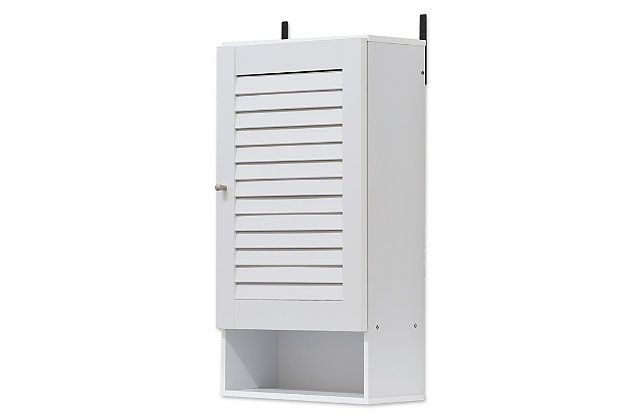 Furinno Indo Wide Wall Cabinet, White, large