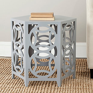 Safavieh Natanya Accent Table, Pearl Blue Gray, rollover