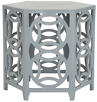 Safavieh Natanya Accent Table, Pearl Blue Gray, large