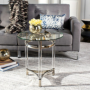Safavieh Letty Round Acrylic End Table, , rollover