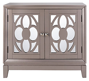 Safavieh Shannon 2 Door Chest, Champagne/Mirror, large