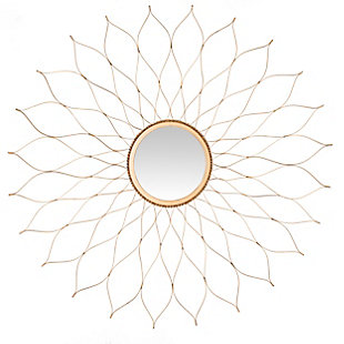 Safavieh Flower Mirror, Gold, rollover