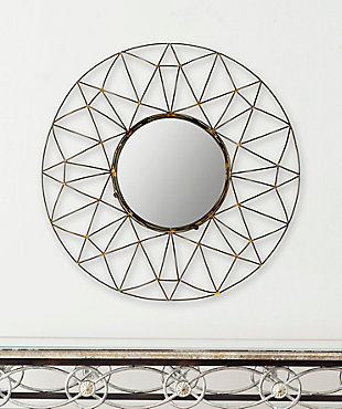 Safavieh Round Mirror, , rollover