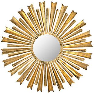 Safavieh Golden Arrows Sunburst Mirror, , large