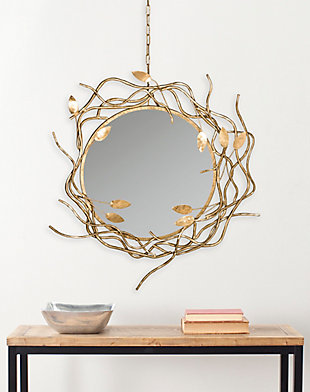 Safavieh Gold Wreath Mirror, , rollover