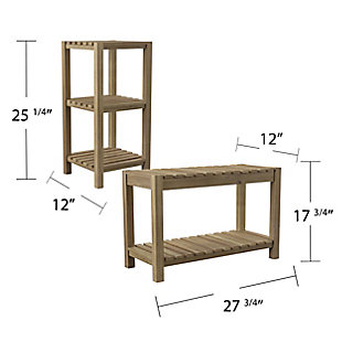 Southern Enterprises Vasana Solid Wood Bath Storage Set (Set of 2), , large