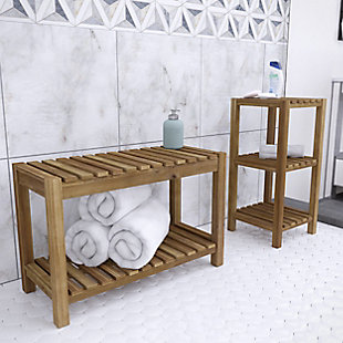 Southern Enterprises Vasana Solid Wood Bath Storage Set (Set of 2), , rollover