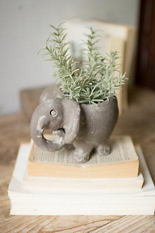 Kalalou Clay Elephant Planter, , rollover