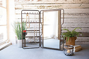 Kalalou Metal Tabletop Jewelry Holder With Mirror, , rollover