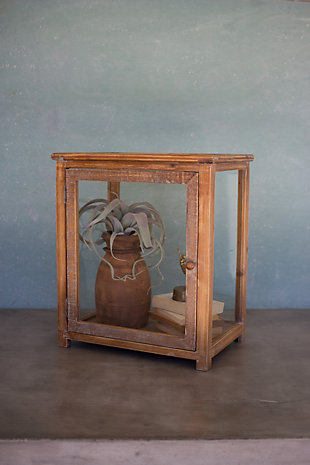 Kalalou Wood And Glass Display Case, , rollover