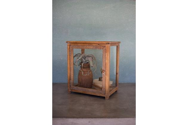 Kalalou Wood And Glass Display Case, , large
