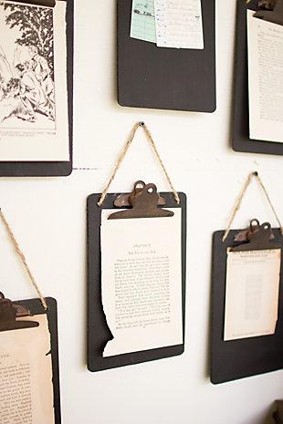 Kalalou Black Clip Board Photo Of Notes Holder (Set of 6), , large