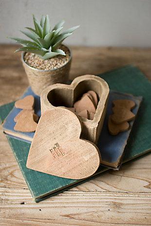 Kalalou Clay Heart Box, , rollover